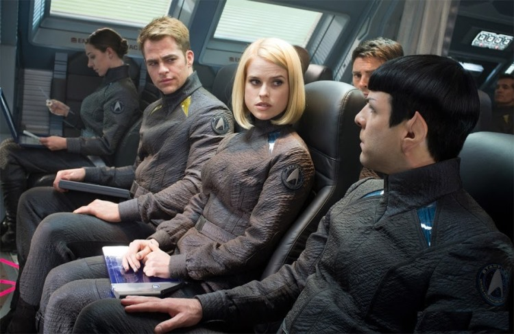 Star Trek Into Darkness Review - Kirk, Carol, and Spock