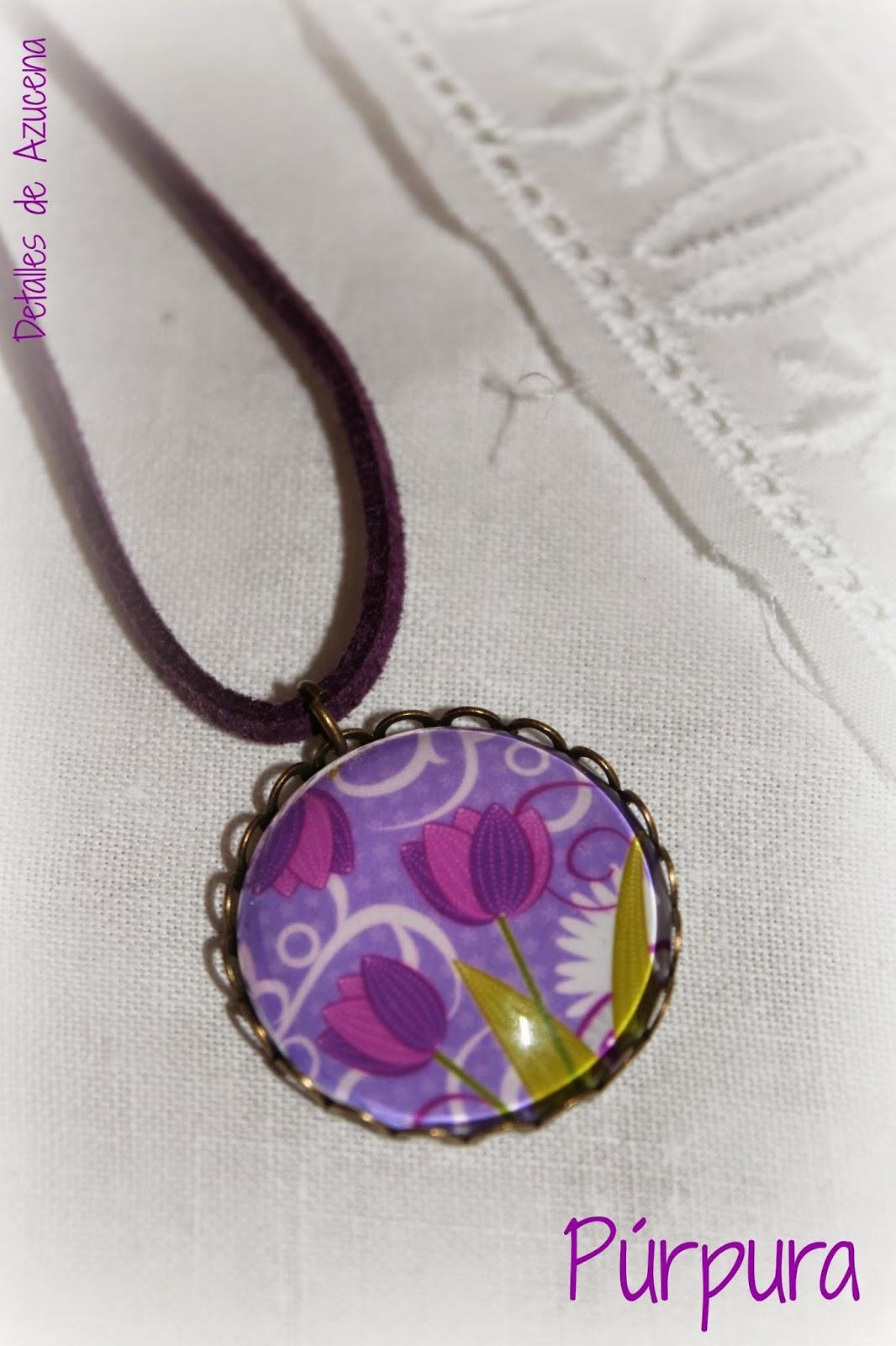 Bisutería creativa: colgante Púrpura