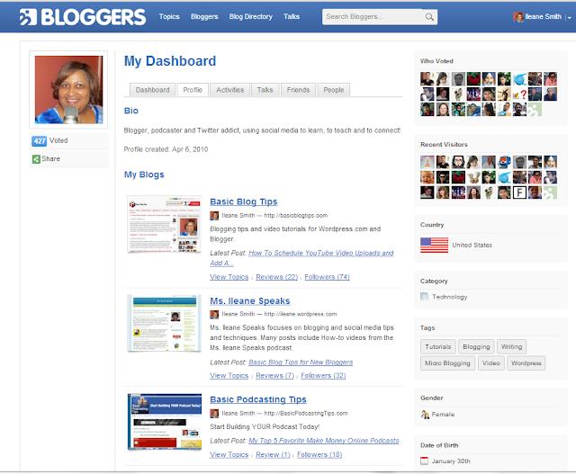 Bloggers.com Dashboard