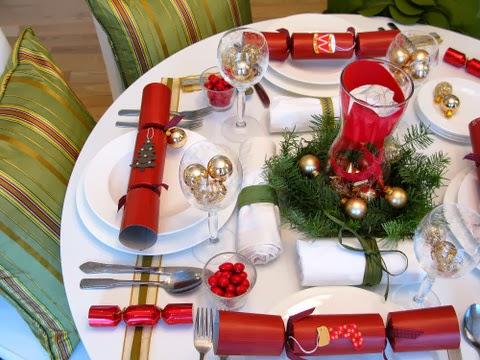 Decoracion de mesas navide as color rojo - Decoracion mesa navidena 2014 ...