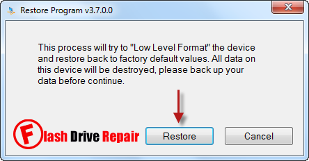 Phison Format Restore v3.7.0.0 flash software