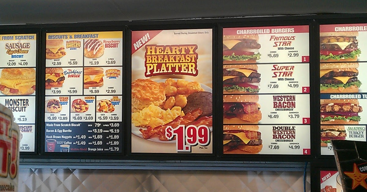 News Carl S Jr New Hearty Breakfast Platter Brand Eating