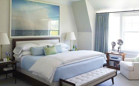 steven gambrel ocean art in bedroom