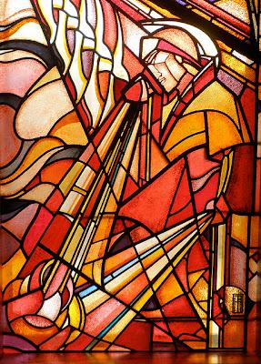 imagen de un guerrero en cristales