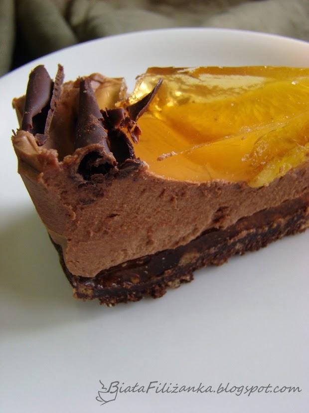 Tort czekoladowy z serkiem mascarpone.