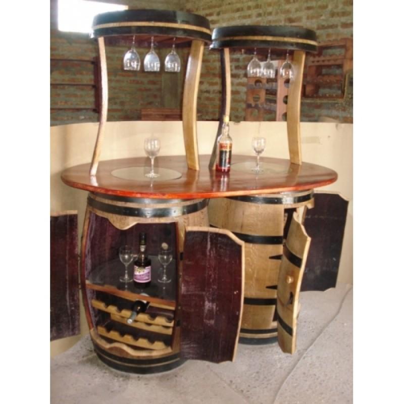 Fika a dika por um mundo melhor m veis e vasos feitos for Bar barril de madera