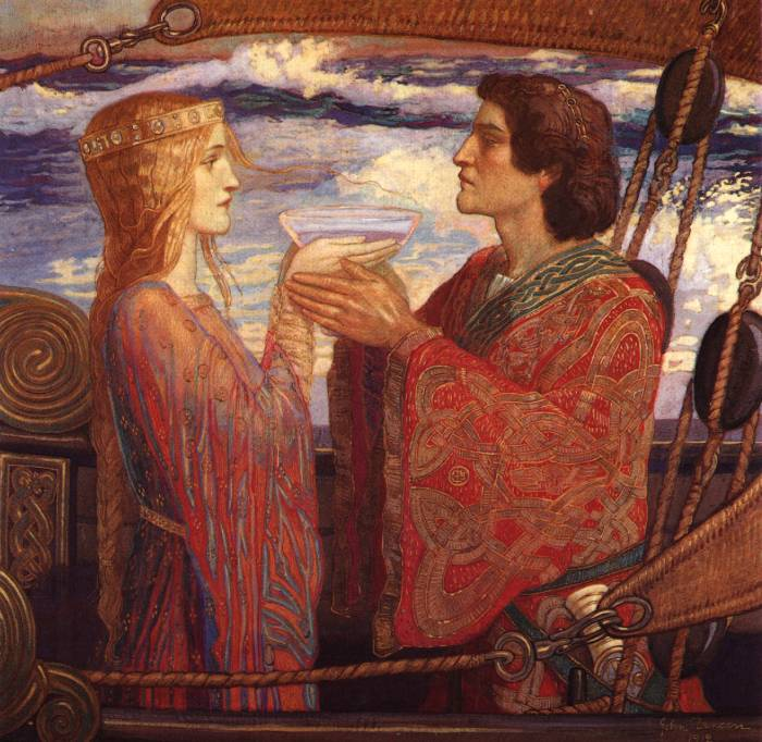 Painting is silent poetry.: Tristan and Iseult