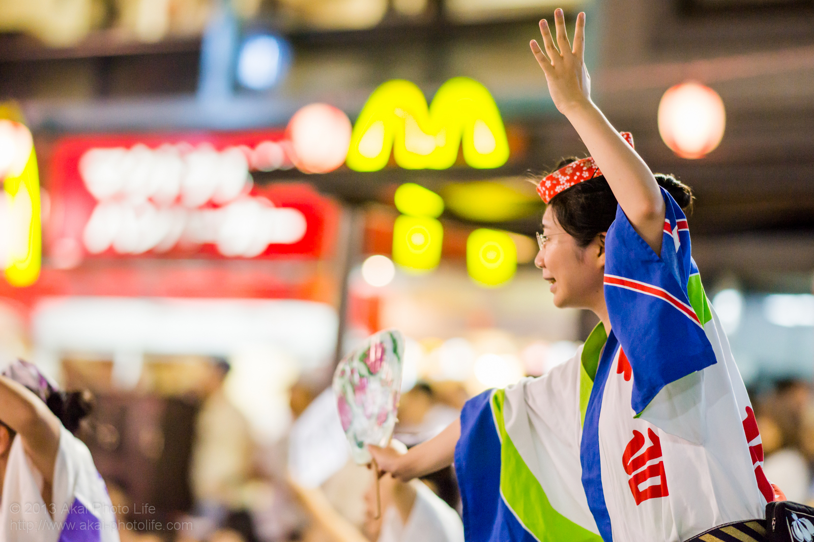踊れ西八夏まつり、初台連の女性による男踊り