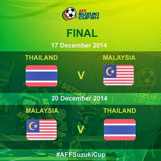 Jadual Final AFF Suzuki Cup 2014