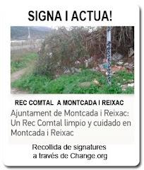 Signa per la neteja i manteniment del Rec Comtal