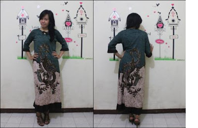 batik pekalongan dress semi gamis