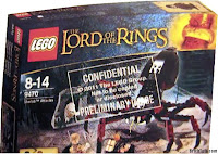 Lego the Lord of the Rings Box Shelob, shelobs lair, szebloba, frodo, sam