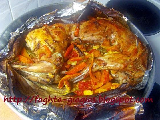 Κουνέλι ψητό στη λαδόκολλα (γιούλμπασι) - Τα φαγητά της γιαγιάς