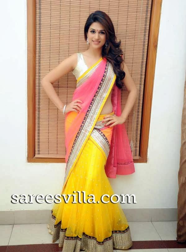 Shraddha Das In Designer Half Saree