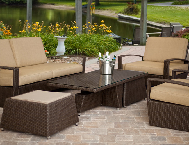 Patio Furniture Sets With Umbrella At Walmart