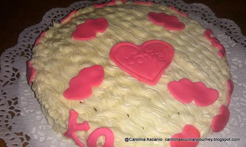 Torta de Piña y Zanahoria San Valentine - Valentine Pineapple Carrot Cake