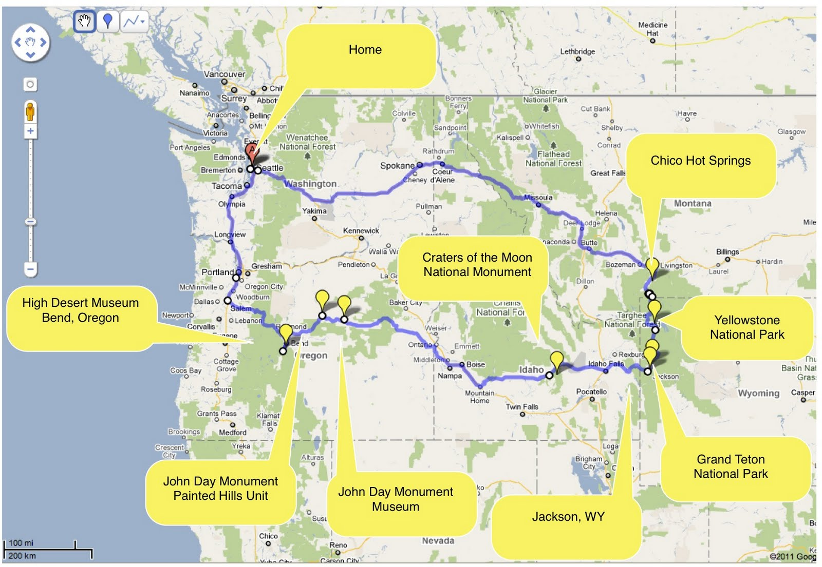 Chris and Sonja The Sweet Seattle Life Yellowstone Road Trip – Oregon Tourist Map