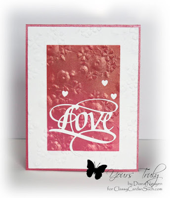 Diana Nguyen, Love, Quietfire Design, Next Level embossing folders, We R Memory Keepers
