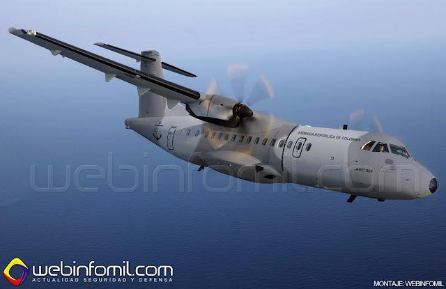 Así es el nuevo avión de transporte ATR-42-300 adquirido por la Armada de Colombia.