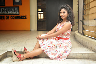 Actress Vishnu Priya Latest Pictures in Short Dress at Nenu Naa Friends Movie Press Meet  68.JPG