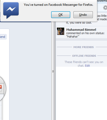 turn on facebook chat messenger for firefox