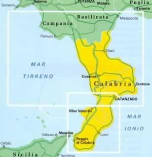 Calabria Mappa Regionale
