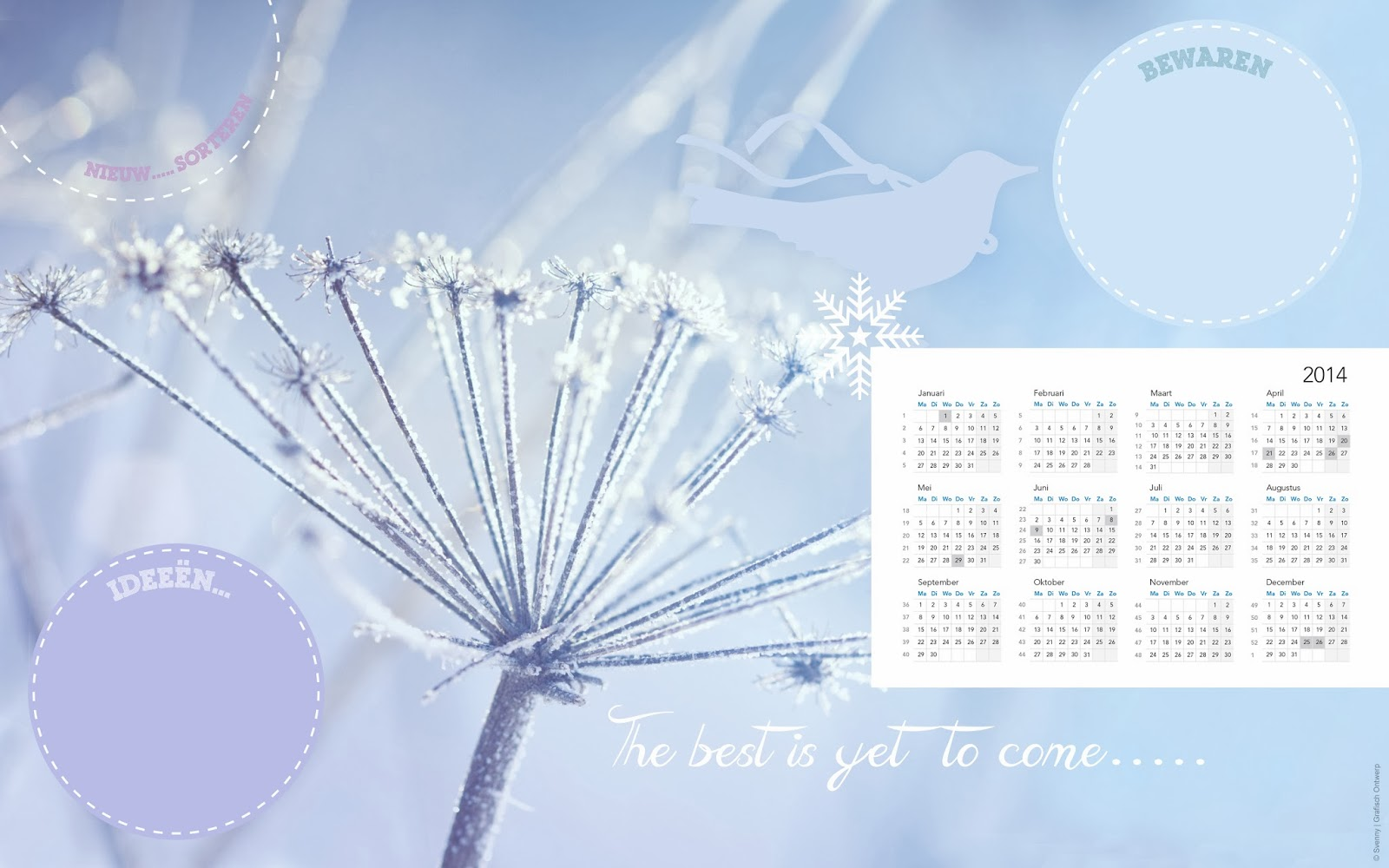 Bureaublad kalender 2014
