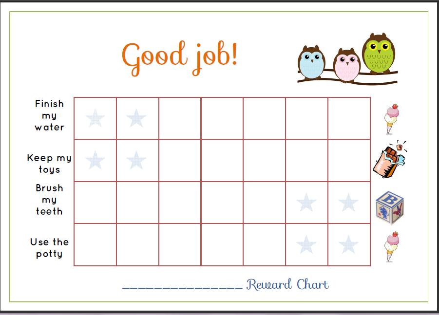 reward chart – Blank Sticker Chart
