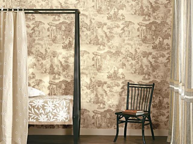 Papier Peint Motif Toile De Jouy - Fenducci Papiers peints TOILES DE JOUY