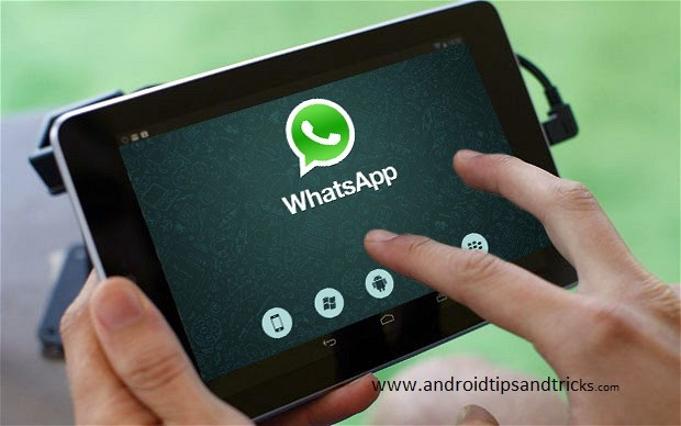 WhatsApp on Google NEXUS tab