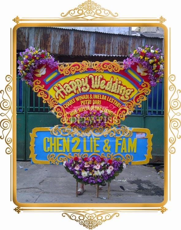 bunga ucapan selamat pernikahan
