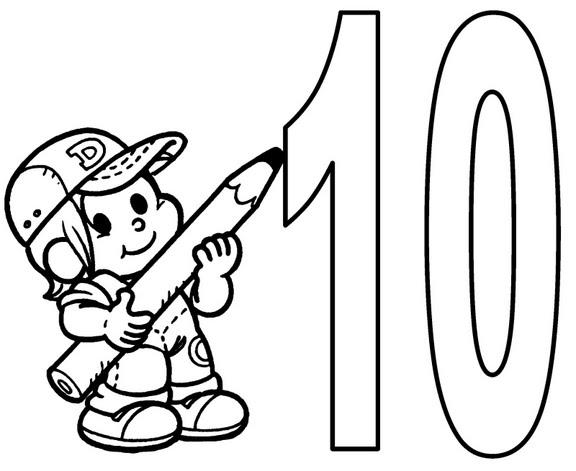 Pintar el numero 10 - Imagui