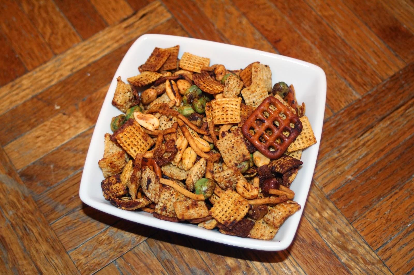 Julie Bakes: Sriracha Chex mix
