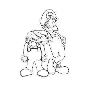 #24 Luigi Coloring Page