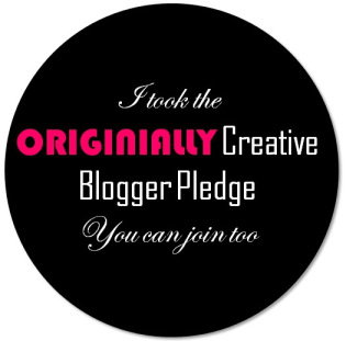 Originially Creative Blogger Pledge