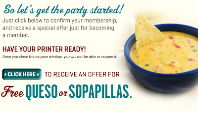 on the border free queso or sopapillas printable coupon email