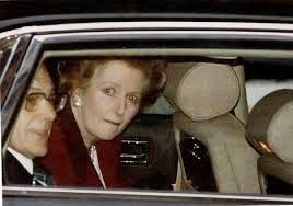 Margaret Thatcher in car