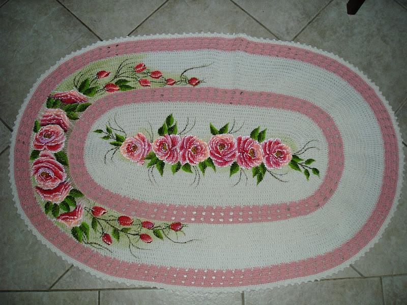 Tecendo Receitas tapete para quarto de croche oval  ~ Tapete Para O Quarto De Croche