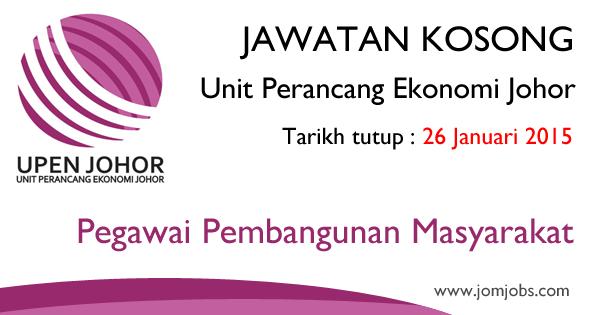 Jawatan Kosong Unit Perancan Ekonomi Johor (UPEN Johor) 2015 Terkini