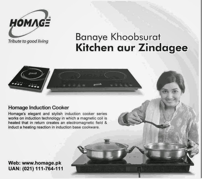 Homage Elegant Stylish Induction Cooker Price in Pakistan 2015