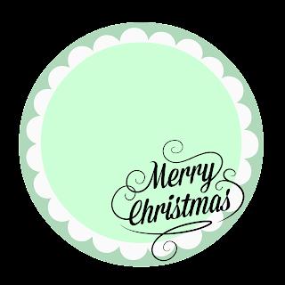 etiqueta para navidad verde