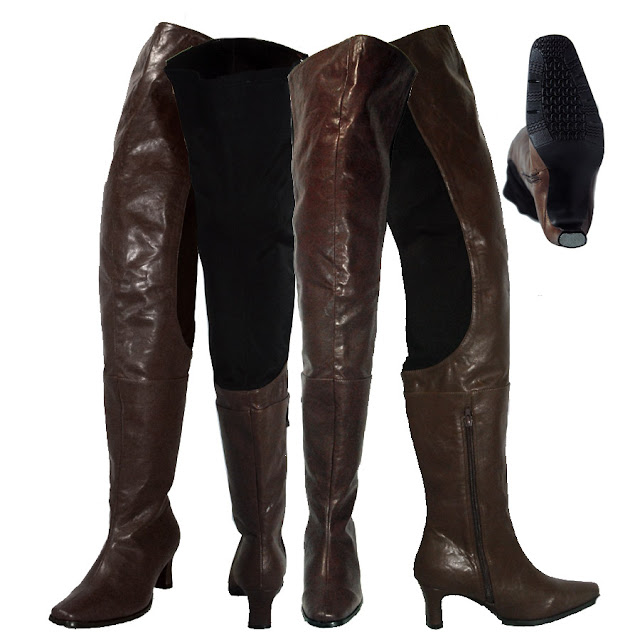 Thigh High Boots Leather3