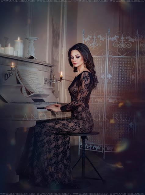 девушка за роялем фотосессия