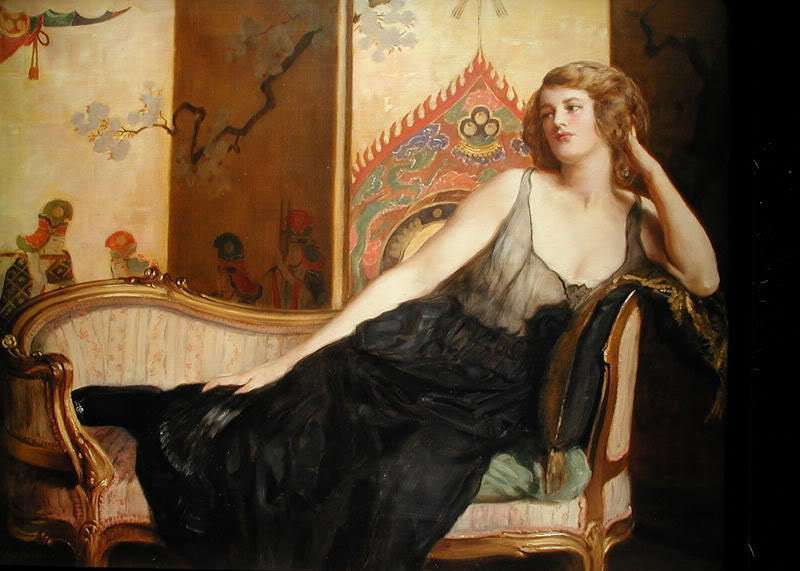 collier reclining woman