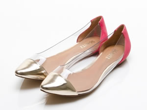 Sapatilhas transparentes na moda