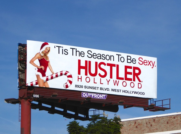 season to be sexy Hustler Hollywood billboard