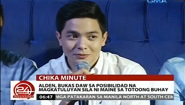 Alden Richards open for a possible true romantic relationship with Maine Mendoza
