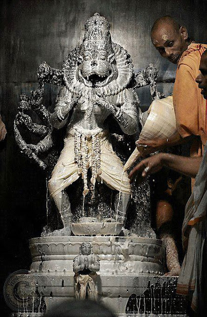 Lord Narasimha idol in germany