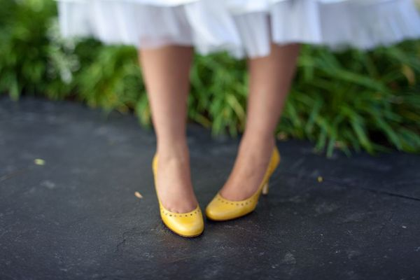 Gamlous strapless appliques ribbon decorated chapel train mermaid wedding yellow dress