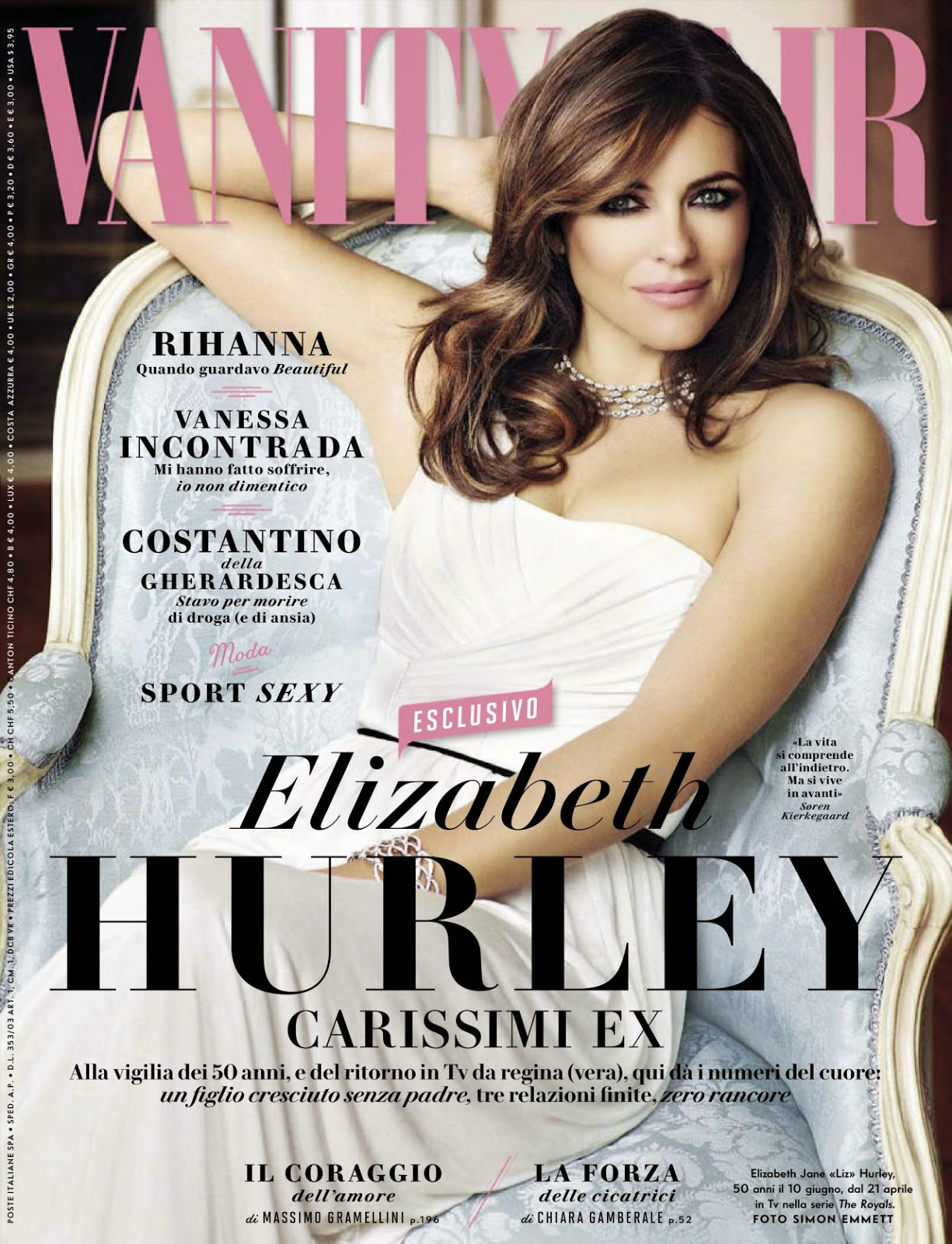 Actress @ Elizabeth Hurley - Vanity Fair Italy April 2015